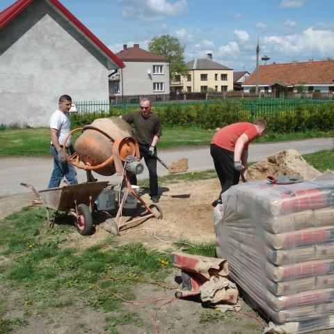 Wiosenne prace przy parafii
