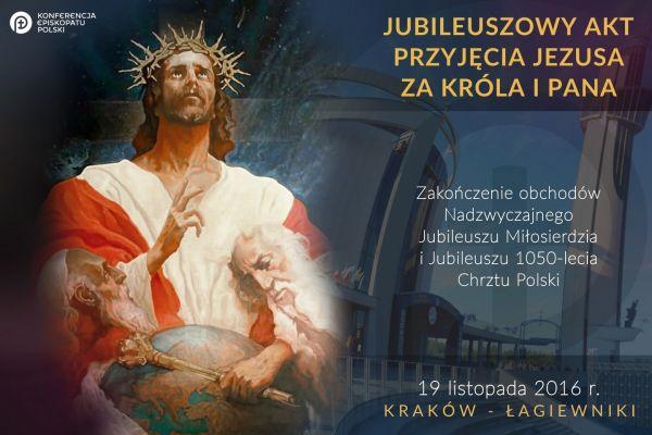 Ogłoszenia - Uroczystość Chrystusa Króla Wszechświata